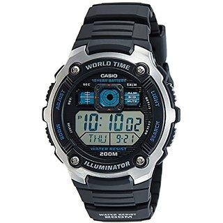 Casio Youth World Timer Digital Black Dial Mens Watch - Ae-2000W-1Avdf (D083)