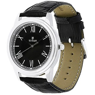 Titan Analog Black Dial Mens Watch-1735Sl02