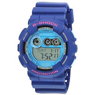 G-Shock Digital Blue Dial Mens Watch - Gd-120Ts-2Dr (G504)