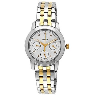 Timex E-Class Analog White Dial Womens Watch - Ti000W10300