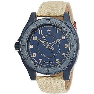 Fastrack Ots Explorer Analog Blue Dial Mens Watch - 9462Al01