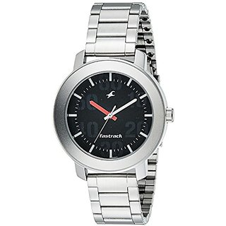 Fastrack Casual Analog Black Dial Mens Watch - 3121Sm02