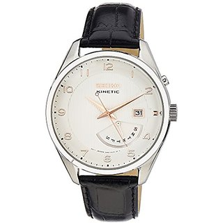 Seiko Dress Analog White Dial Mens Watch - Srn049P1