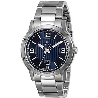 Titan Neo Analog Blue Dial Mens Watch-1730Sm03