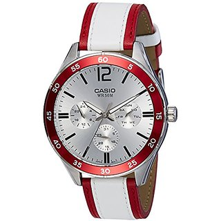 Casio Enticer Analog Silver Dial Mens Watch-Mtp-E310L-4Avdf (A1182)