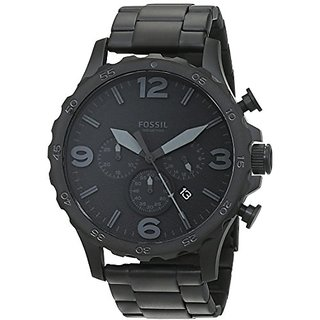 Fossil Nate Chronograph Analog Black Dial Mens Watch - Jr1401