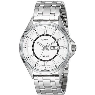 Casio Enticer Analog White Dial Mens Watch - Mtp-E108D-7Avdf( A966)