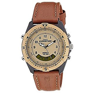 Timex Expedition Analog-Digital Beige Dial Mens Watch - Mf13