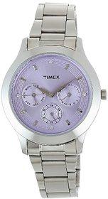 Timex Quartz Purple Dial Women Watch-TI000Q80500