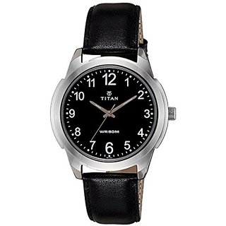 Titan Analog Black Dial Mens Watch - 1585Sl08