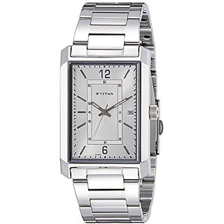 Titan Analog White Dial Mens Watch - 1697Sm01