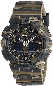 G-Shock Analog-Digital Green Dial Mens Watch - Ga-100Cm