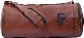Fashion 7 Antique Brown Leatherite Gym Bag