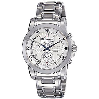 Seiko Premier Chronograph White Dial Mens Watch - Spc159P1