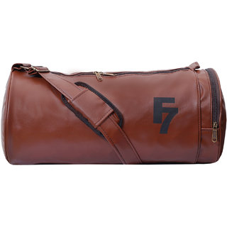 F 7 Antique Leatherite Gym Bag