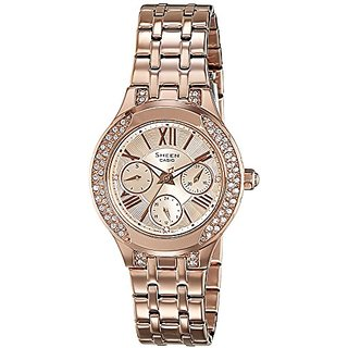 Casio Sheen Analog Gold Dial Womens Watch - She-3809Pg-9Audr(Sx177)