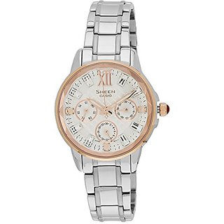 Casio Sheen Multi Function Analog Multi-Color Dial Womens Watch - She-3029Sg-7Audr (Sx083)