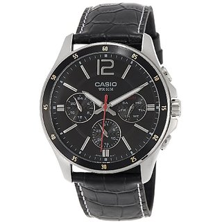 Casio Enticer Chronograph Black Dial Mens Watch - Mtp-1374L-1Avdf (A834)