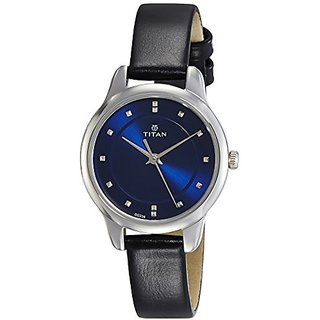 Titan Ladies Neo-Ii Analog Blue Dial Womens Watch-2481Sl08