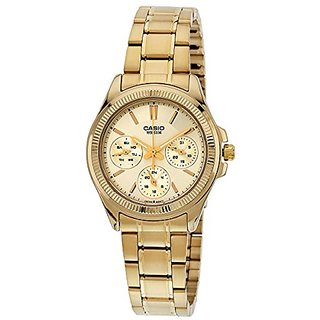 Casio Enticer Analog Gold Dial Womens Watch - Ltp-2088G-9Avdf (A935)