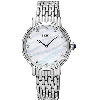 Seiko Analog Mother Of Pearl Dial Womens Watch-Sfq807P1