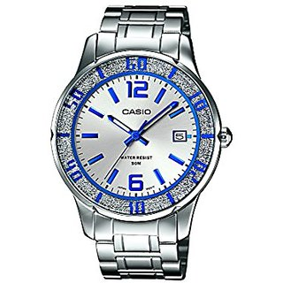 Casio Enticer Analog Silver Dial Womens Watch - Ltp-1359D-7Avdf (A810)