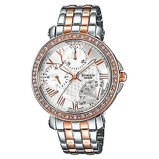Casio Sheen Analog White Dial Womens Watch - Shn-3011Sg-7Adr(Sx144)