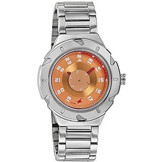 Fastrack Analog Orange Dial Womens Watch-6157Sm02