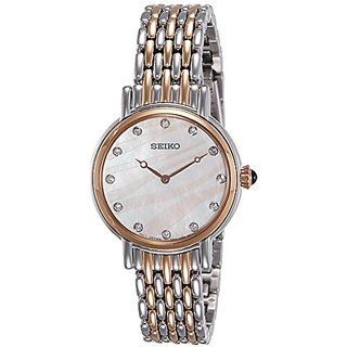 Seiko SFQ806P1 Analog Mother Of Pearl Dial Women's Watch (SFQ806P1)