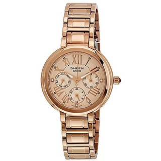 Casio Sheen Analog Gold Dial Womens Watch - She-3034Pg-9Audr (Sx124)