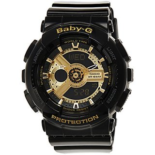 Casio Baby-G Analog-Digital Black Dial Womens Watch - Ba-110-1Adr (Bx015)