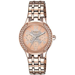 Casio Sheen Analog Multi-Color Dial Womens Watch - She-3803Pg-9Audr (Sx107)