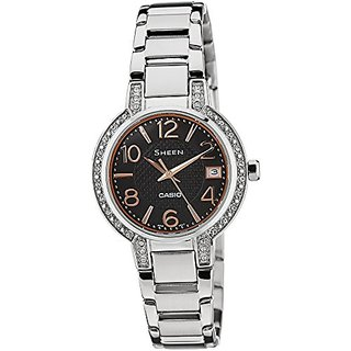 Casio Sheen Analog Black Dial Womens Watch - She-4804D-1Audr (Sx126)