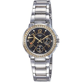 Casio Sheen Analog Black Dial Womens Watch - Shn-3008Sg-1Adr (Sx094)