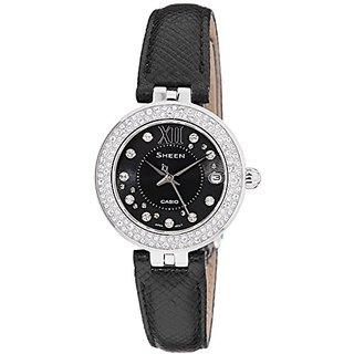 Casio Sheen Analog Black Dial Womens Watch - She-4514L-1Audr (Sx117)