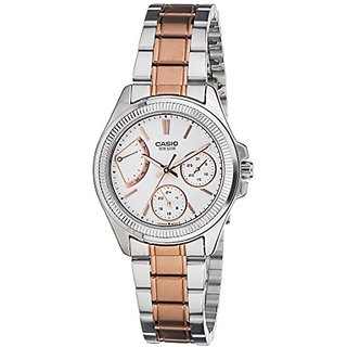 Casio Enticer Analog White Dial Womens Watch - Ltp-2089Rg-7Avdf (A1038)