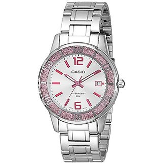 Casio Enticer Analog Silver Dial Womens Watch - Ltp-1359D-4Avdf (A809)