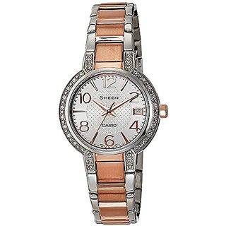 Casio Sheen Analog White Dial Womens Watch - She-4804Sg-7Audr (Sx129)