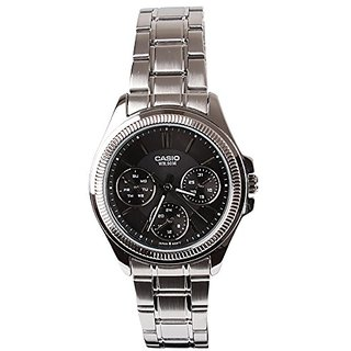 Casio Enticer Analog Black Dial Womens Watch - Ltp-2088D-1Avdf (A933)
