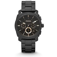Fossil Chronograph Analogue Black Dial Mens Watch -Fs46