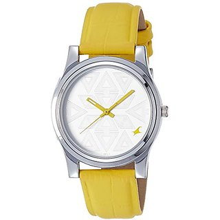 Fastrack Analog Silver Dial Womens Watch - 6046Sl03