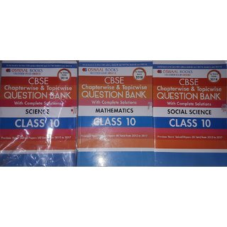 OSWAAL CBSE 2018 EXAM QUESTION PAPERS  COMBO PACK OF 3 SUBJECTS MATH SCIENCE AND SOCIAL SCIENCE CLASS 10