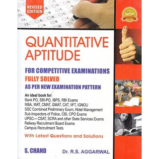 QUANTITATIVE APTITUDE FOR COMPETITIVE EXAMINATIONS, REVISED 2017 EDITION(English, Paperback, R. S. Aggarwal)