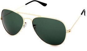 Imported Men's Green UV Protected Full Rim Aviator Sunglasses