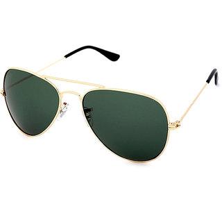 Imported Mens Green Uv Protected Full Rim Aviator Sunglasses