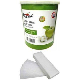 GoodsBazaar Beeone Green Apple Wax with 90 Wax Strips (800 Grams)