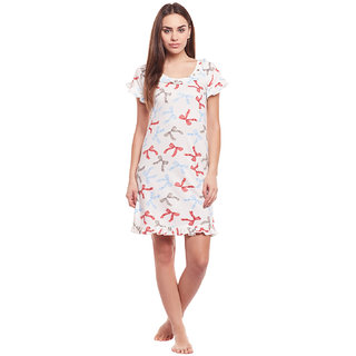 Buy Claura Cotton Printed Short Nighty Online - Get 78% Off b7ba83bed8a2