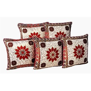 Manvi Creations Floral Design Cushion Cover