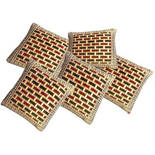 Manvi Creations Checkered Design Cushion Cover
