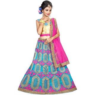 Surupta Blue Color Silk Designer Embroidered Lehenga Choli Of Size 36   Payal_51703_36